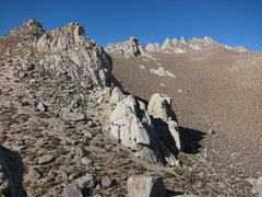 Rock Climbing Photo: The Schnoz and The Mitten, as seen from the summit...
