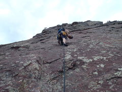 Rock Climbing Photo: 2nd maybe 3rd pitch of the Flatirons.