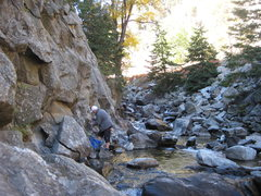 Rock Climbing Photo: The reason it's called Creekside (photo by Phil As...