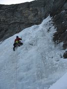 Rock Climbing Photo: Wes Bender starting up the first pitch.  Photo:  D...