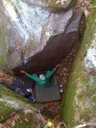 Rock Climbing Photo: John at the start of Baby Crane  Photo: Paul Campb...