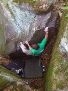 Rock Climbing Photo: Hitting that sweet spot  Photo: Paul Campbell