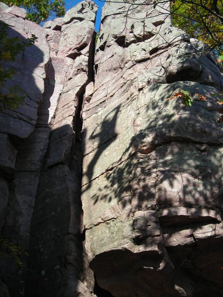 Rock Climbing Photo: Shadow play 3... Wwest Bluff.   Photo by Eric P.