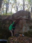 Rock Climbing Photo: John gaining undercling.