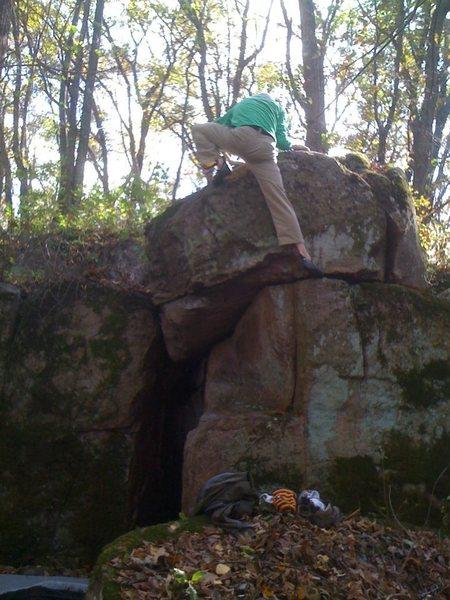 Rock Climbing Photo: John topping out.