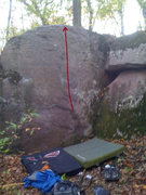Rock Climbing Photo: Quaker Oats. Listed as #36 V1/2 in Steve's old top...