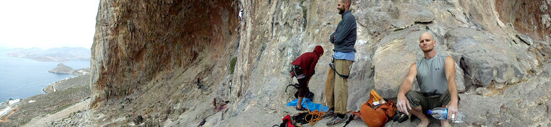 Rock Climbing Photo: Ropin' up for a day of crush on Panorama left, Kal...