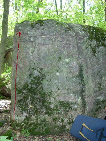 Rock Climbing Photo: Beta photo for Easy Street. Photo stolen from Rhoa...