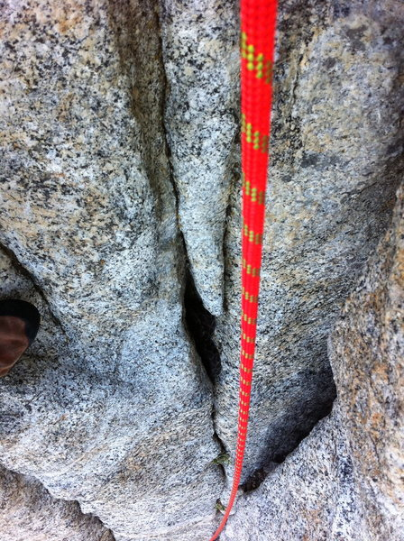Rock Climbing Photo: Beware of Snakes!!  Zoom in on the larger crack to...