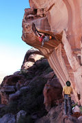 Rock Climbing Photo: My onsight attempt. Feet first for this section wo...