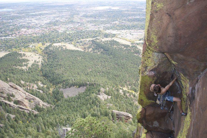 Rock Climbing Photo: Above Boulder.