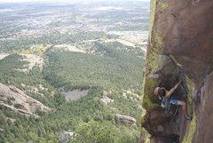 Rock Climbing Photo: Above Boulder.