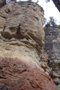 Rock Climbing Photo: Climber taking down Pete's Wicked Route, 5.11c Spe...