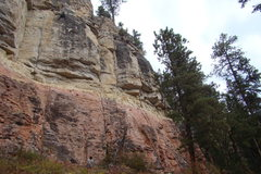 Rock Climbing Photo: Climber on Astro Pop, 5.11b First Wall Sunshine Wa...