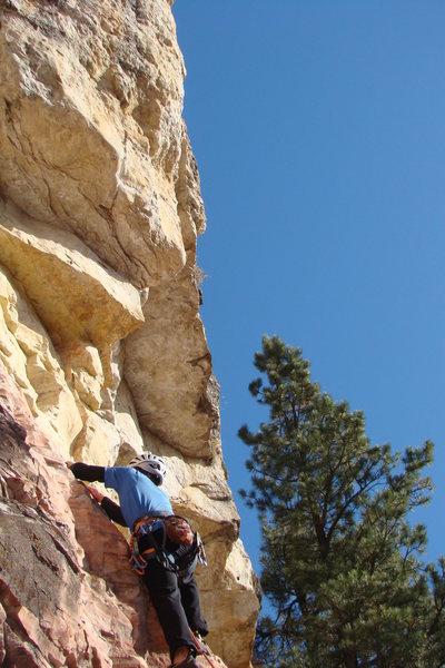 Rock Climbing Photo: Starts on neat, pink rock.