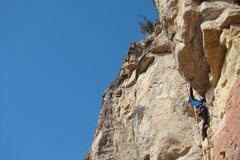 Rock Climbing Photo: Pulls a pretty radical roof for a 5.10.