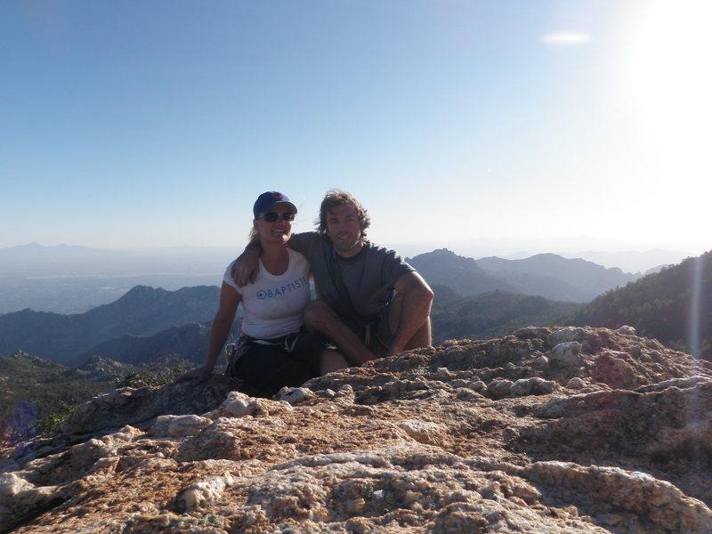 Top of Rap rock, Kristin's first Trad climb, first Mulit-pitch Trad climb.