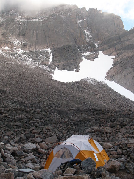 Camping our at Boulderfield, Longs Peak, CO
