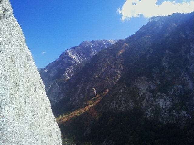 Rock Climbing Photo: View from the top of Plumb Line. Beautiful climb o...