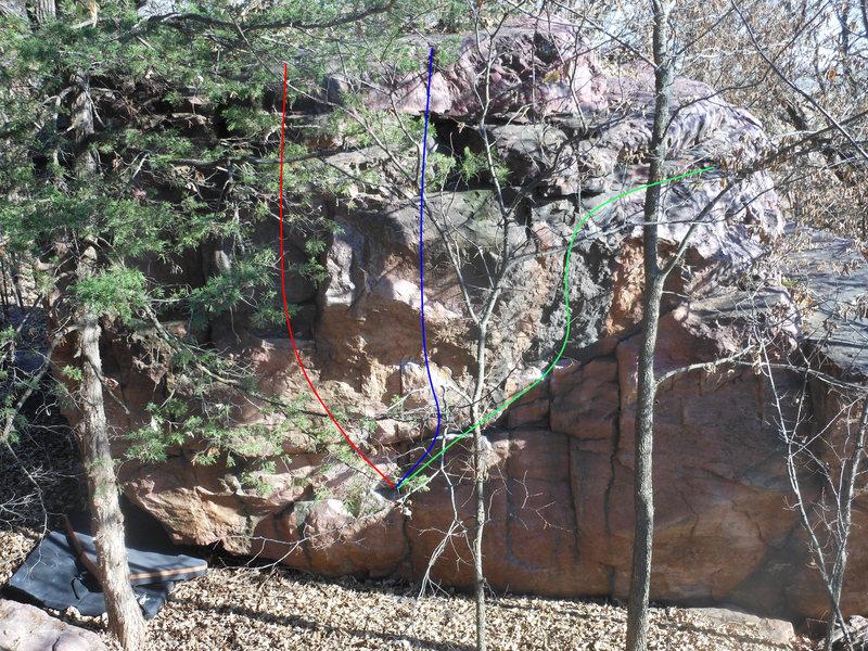Red V3 - Power Surge<br> Blue V3 - Sweat and Slide<br> Green V3 - Slick Rick SDS