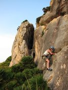 Rock Climbing Photo: Start of Lord of the Rings at La Creveta