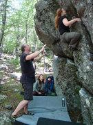 Rock Climbing Photo: Manuela on Honeycomb