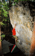 Rock Climbing Photo: Myself climbing on the James Brown Boulder. Awesom...