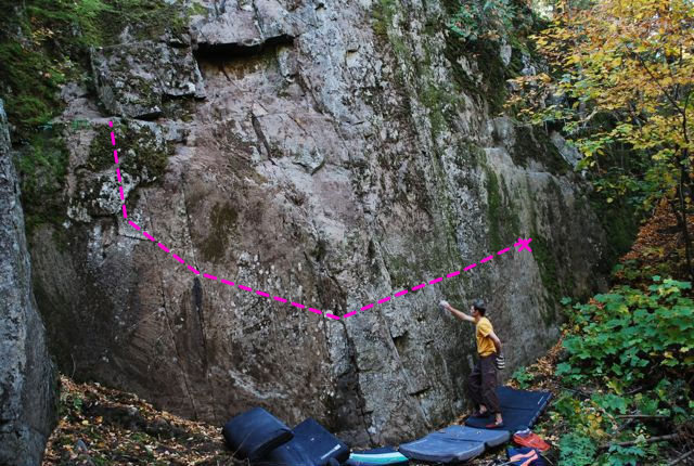 Rock Climbing Photo: Checkmate line. Soooo fun.