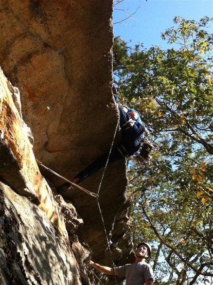 Rock Climbing Photo: Da move on Dat Mantel.