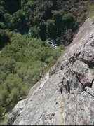 Rock Climbing Photo: Taken at a gear belay at the end of the traverse v...