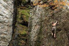 Rock Climbing Photo: nicole on the top of Bullwinkle goes ballistic