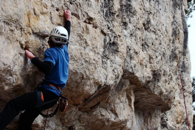 Rock Climbing Photo: Enjoying the bottomless pockets on Astro Pop, 5.11...