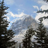 Mount Lefroy out of Lake Louise.
