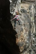 Rock Climbing Photo: lily using the Crusher start to get on to the pred...