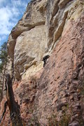 Rock Climbing Photo: Creative crimps at the beginning of Astro Pop, 5.1...