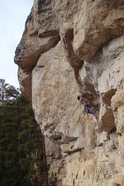 Rock Climbing Photo: Pulling one of the massive, killer roofs at First ...