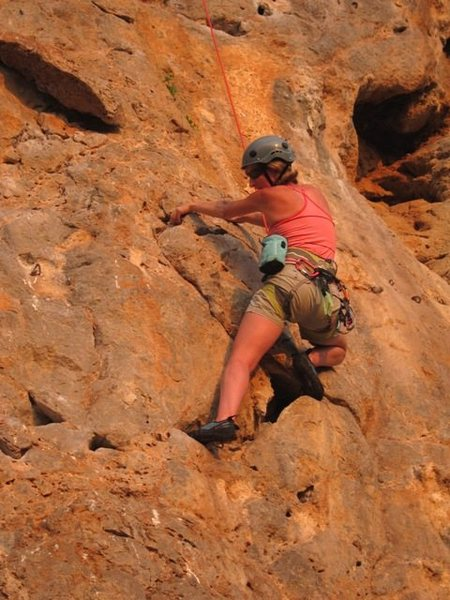 """Rock Climbing Photo: In the thick of """"Sea""""."""