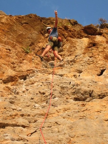 Rock Climbing Photo: Topping out on Sea