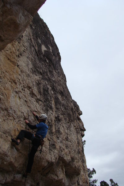 Rock Climbing Photo: Heading for the headrush of a middle crux on Astro...