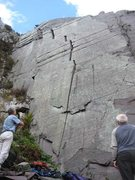 Rock Climbing Photo: The line could not be more obvious! (photo by Phil...