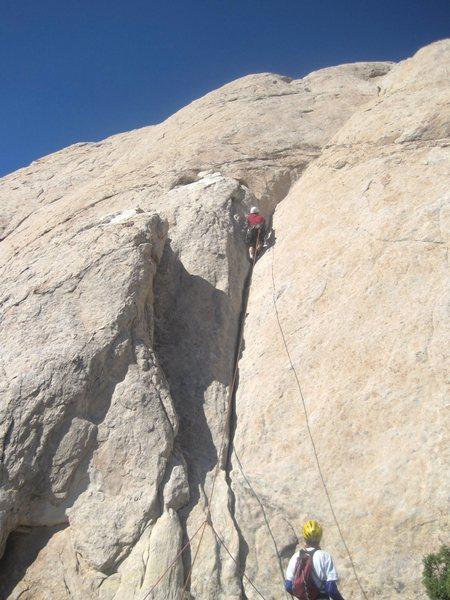 Rock Climbing Photo: Paul starting P2