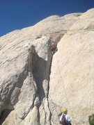 Rock Climbing Photo: Paul starting P2