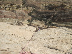 Rock Climbing Photo: Charles near top P2