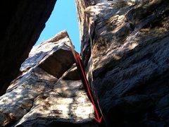 Rock Climbing Photo: Honey Badger Don't Care