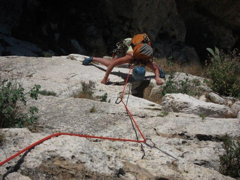 Rock Climbing Photo: Pitch four of Valencianos.  Fun!  Peñón de Ifach...