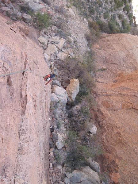 Rock Climbing Photo: Kent on P1