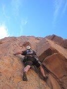 Rock Climbing Photo: Kent starting P2