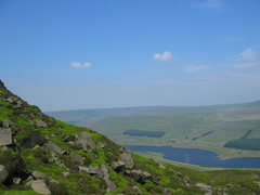 Rock Climbing Photo: The view over the reservoir.  Pity about the power...