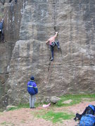 Rock Climbing Photo: The start of Meringue (photo: Phil Ashton)