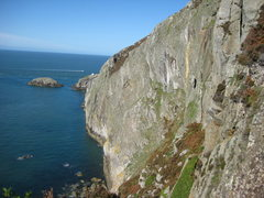 Rock Climbing Photo: The Main Cliff at Gogarth - 350' of very steep roc...